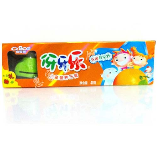 纳爱斯伢牙乐儿童牙膏40g香橙味